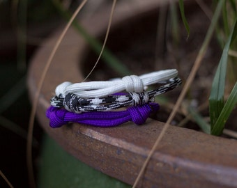 Paracord Bracelets | Twist of Purple | Three Pack