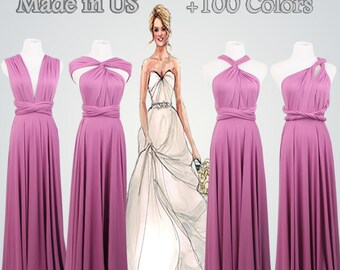 Grape Infinity Dress,Long Maxi Infinity Dress ,Gown Convertible Dress,Full-Length Infinity Dress,Purple Dress,Infinity Dresses
