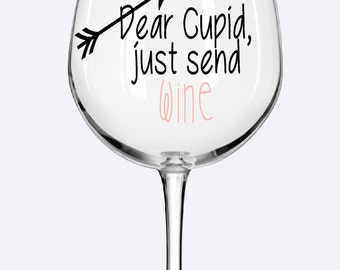 Dear Cupid Wine Glass, Valentine's Day Gift