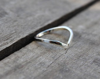 Sterling Silver Ring, 925 Silver Ring, Bezel Ring Jewelry, Promise Ring, Silver Ring, Jewelry, Jewellery, Adjustable Ring