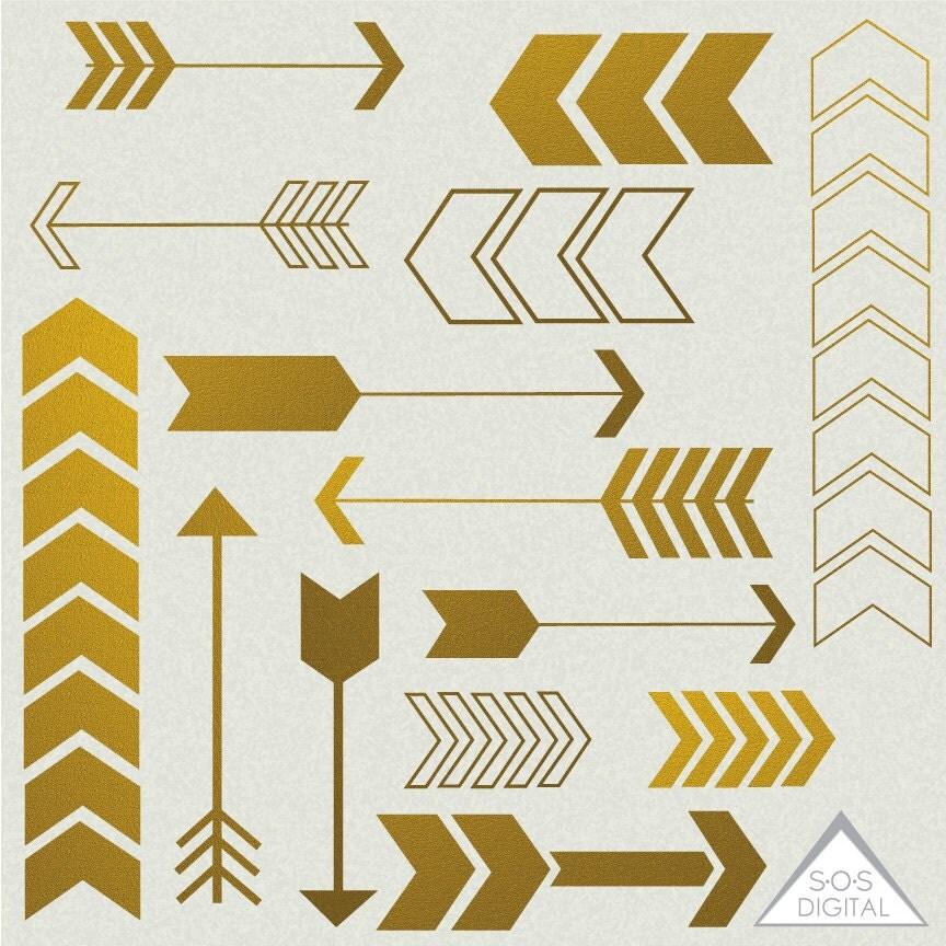 Gold Arrow Clipart Clipart Arrows Cute Arrows Digital