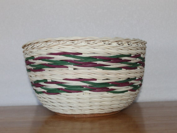 Basket Weaving Dyed Reed : Handwoven rustic natural and hand dyed wicker by