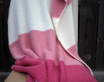 Knitted Baby Blanket in Pink