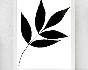 Leaves, modern print, walpart,