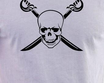 Pirate Skull & swords print T-shirt