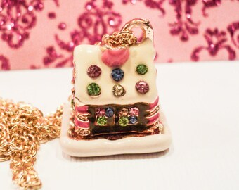 New Juicy Couture Inspired Gingerbread House Charm Necklace