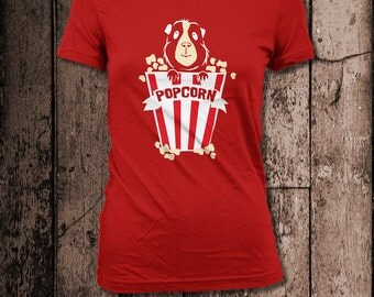 Popcorn! | Women's Tee | Guinea Pig humour