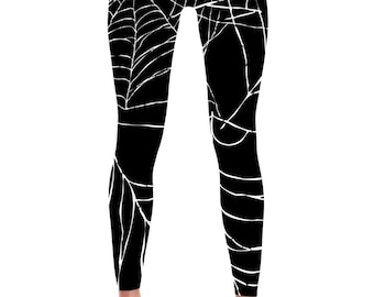 Spider Web Leggings - Spider Web Costume - Halloween Costume - Web Leggings - Web Costume - Scary Leggings - Yoga Leggings - Spider Leggings