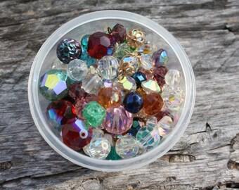 3.5 OZ Mixed Crystal Bead Lot