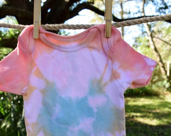 Tropical Tie-Dyed Onesie, size 6-12 mos