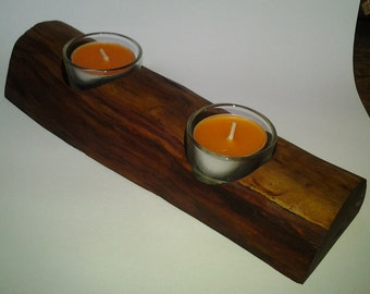 Tea light holder wood wooden tea Lich Halter candle holder