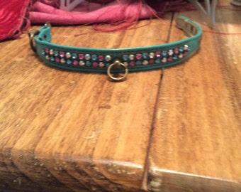 Vintage dog collar, Vintage pet collar, Vintage cat collar
