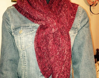 Knit Triangular Scarf