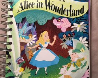 Upcycled Alice in Wonderland Journal