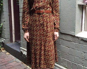 50 shades of brown - 70s Dress