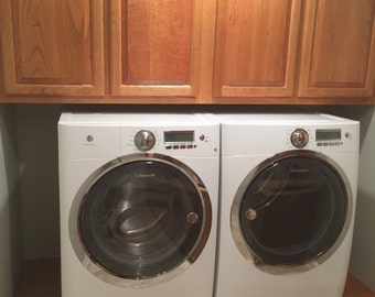 Washer & Dryer Pull Out Storage