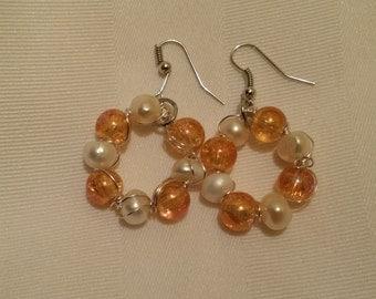 Custom Handmade Wire and Bead Earrings