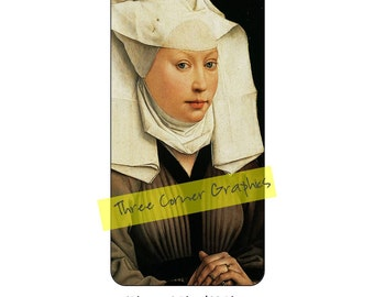 iPhone 6+ printable case design (Portrait of a Young Woman by van der Weyden); DIY print at home iPhone accessories for 6 Plus, 6S Plus