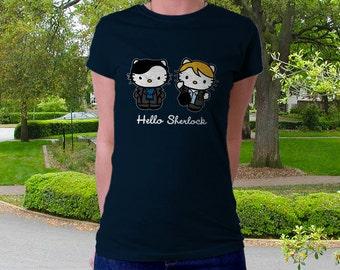 Hello Sherlock T-Shirt | Unisex - Women - Kids | Awesome Geek TV Cats Parody Clothes