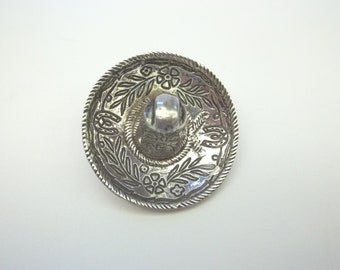 Vintage Mexican Bolo Slide Cowboy Hat Sterling Silver