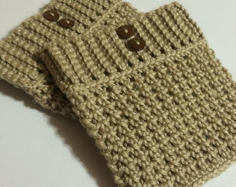 Crochet Ribbed Boot Cuffs - Boot Liners
