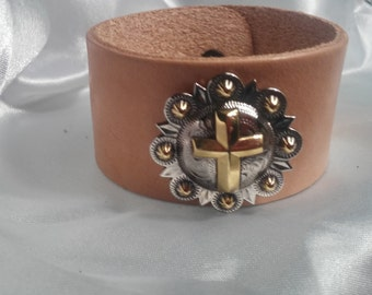 Leather Cross Cuff