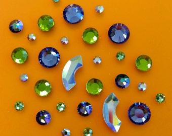 Paradise Eclipse Swarovski Crystals Cluster Mix