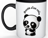 -Hug panda - mug joke - gift - personalized mug Cup - gift mother's day - father's day gift
