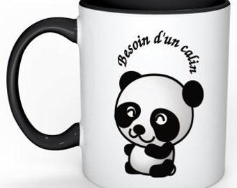 -Hug panda - mug joke - gift - personalized mug Cup - gift mother's day - father's day gift