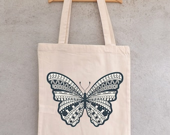 "Tote Bag ""Butterfly Mandala"" - shopping bag"