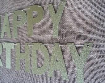 Gold,Pink,Silver,Black,Red Happy Birthday Banner, Gold Happy 1st Birthday Banner, Happy 2nd Birthday Banner, Girl/Boy Birthday Banner