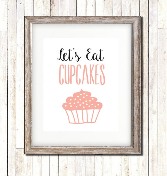 Lets Eat Cupcakes Kitchen Art Wall Art Wall By