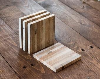Layered Hardwood Coasters