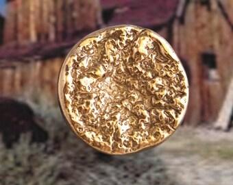 Rocky - Bronze handmade ring - nugget - gold rush