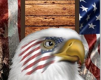 American Flag Eagle Camo LAMINATED Cornhole Wrap Bag Toss Decal Baggo Skin Sticker Wraps