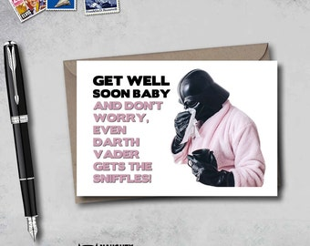 Funny Get Well Card, get well soon card, get well husband card, card for sick boyfriend, card for sick husband card, get well boyfriend card