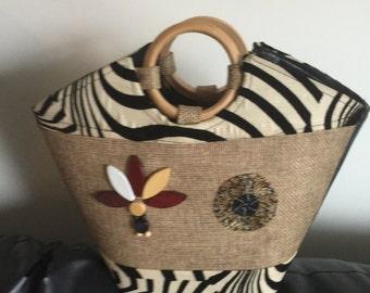 African top handle bag