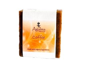Coffee Soap, Exfoliant,Vegan Soap, Natural Soap, Cold Procees Soap, Organic Soap, Handmade Soap, Bar soap, 5 onz. Aprox