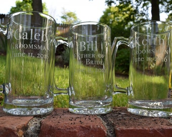 Etched Groomsmen Gift, Etched Beer Mug, Beer Mugs, Wedding Party Gifts, Etched Glasses, Beer Mug, Groomsmen Gifts, Bridal Party Gifts