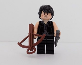 Daryl Dixon The Walking Dead custom Minifigure made using Lego Parts