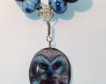 Northern Saw-Whet Owl Totem Animal Necklace