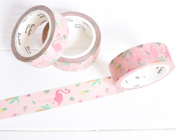 Fun flamingo washi tape