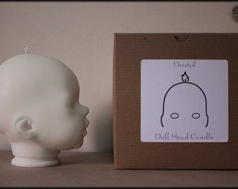 Dristol - Doll Head Candle - Soy White