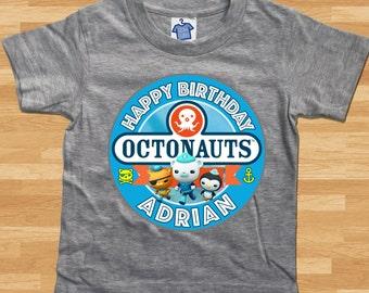 Octonauts Custom Birthday T-Shirt - Boys