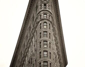 Flat Iron Building - Flat Iron photo - Flat Iron print - New York City - NYC photography - Architecture - Sepia - Wall decor