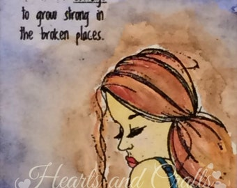 Courage to Grow Strong - 8x10 Matted Water-colored Photo (MAT-WCP-0008)