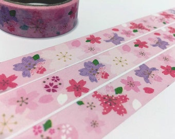 Cherry blossom washi tape 5M Sakura sticker tape pink flower garden blossom florist deco masking tape flower planner gift diary scrapbook
