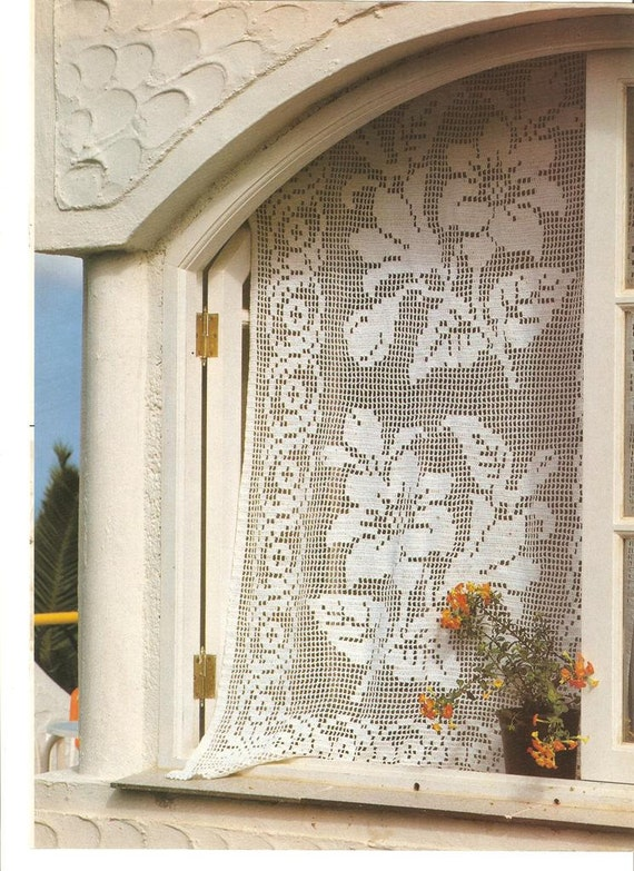 Country Curtains Crochet Patterns Rustic Vintage Filet