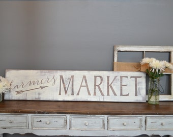 Farmers Market Sign - Modern Farmhouse Sign - Farmhouse Sign - Rustic Sign - Rustic Farmhouse Sign