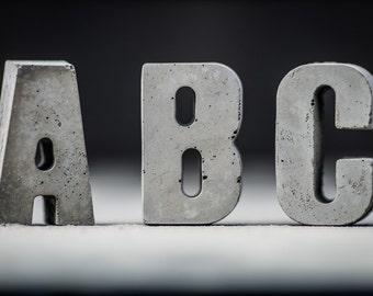 Concrete Letters  | Choose your letter | Concrete Alphabet | Handmade | Brutalist